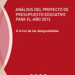 Análisis del presupuesto educativo para el año 2013