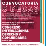 5 becas para participar en el Congreso Derecho y Comunidades