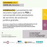 WEBINARIO | Lanzamiento del recursero legal para el PBA y conversación entre prestadores de servicios de asistencia jurídica gratuita